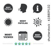 most popular star icon. most... | Shutterstock .eps vector #618809132