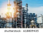 oil and gas industry refinery... | Shutterstock . vector #618809435