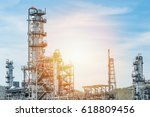 oil and gas industry refinery... | Shutterstock . vector #618809456