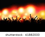 crowd of party people   vector... | Shutterstock .eps vector #61882033