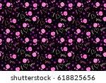 doodle elements on a black...   Shutterstock . vector #618825656