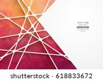 abstract geometric background... | Shutterstock .eps vector #618833672