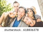 group of best friends taking...   Shutterstock . vector #618836378