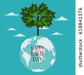 happy earth day vector... | Shutterstock .eps vector #618841376
