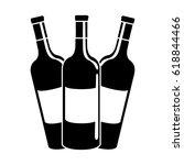 black contour tasty wine... | Shutterstock .eps vector #618844466