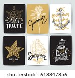 set of hand drawn stickers of...   Shutterstock .eps vector #618847856