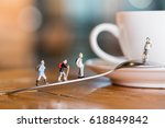 group of traveler stand and... | Shutterstock . vector #618849842