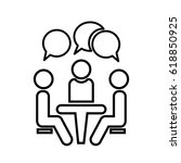 conference icon. people sitting ... | Shutterstock .eps vector #618850925