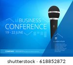 business conference poster... | Shutterstock .eps vector #618852872