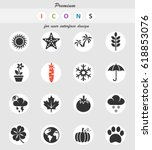 nature web icons for user...   Shutterstock .eps vector #618853076