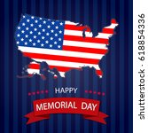 happy memorial day background... | Shutterstock .eps vector #618854336