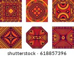 vector color set of square... | Shutterstock .eps vector #618857396