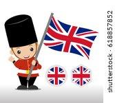 kids british soldier... | Shutterstock .eps vector #618857852