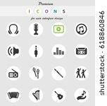 music vector icons for user... | Shutterstock .eps vector #618860846
