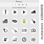 music vector icons for user... | Shutterstock .eps vector #618860858