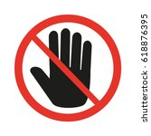 dont touch icon | Shutterstock .eps vector #618876395