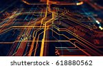 circuit board futuristic server ... | Shutterstock . vector #618880562