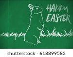 easter greeting against... | Shutterstock . vector #618899582