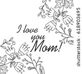 greeting card for the mother... | Shutterstock .eps vector #618903695