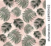 tropical leaves | Shutterstock . vector #618905432