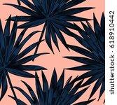 exotic flowers set. botanical...   Shutterstock .eps vector #618910442
