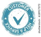 customer help and service blue...   Shutterstock . vector #618917372