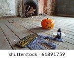 Creepy attic - stock photo