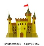 fairy medieval castle in... | Shutterstock .eps vector #618918452