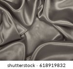 smooth elegant brown silk or... | Shutterstock . vector #618919832