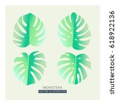 vector tropical palm leaves.... | Shutterstock .eps vector #618922136