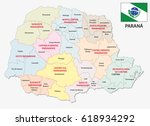 parana administrative and... | Shutterstock .eps vector #618934292