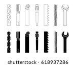 drill bit screw cutter milling...   Shutterstock .eps vector #618937286