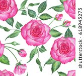 seamless floral pattern with... | Shutterstock . vector #618945275