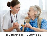 senior woman with her home... | Shutterstock . vector #61894663