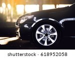 sport car wheels and break. | Shutterstock . vector #618952058