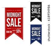 midnight sale banner design set ...