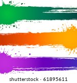 colorful vector splat banners | Shutterstock .eps vector #61895611