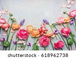 border of various beautiful... | Shutterstock . vector #618962738