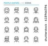 people avatars thin line icon...   Shutterstock .eps vector #618966596