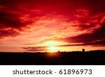 A Beautiful Red Sunset With...
