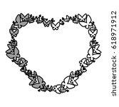 heart floral frame icon | Shutterstock .eps vector #618971912