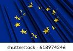 fragment flag of european union.... | Shutterstock . vector #618974246
