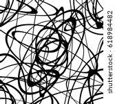 geometric monochrome texture  ...   Shutterstock .eps vector #618984482