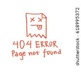 hand drawn 404 error page not... | Shutterstock .eps vector #618995372