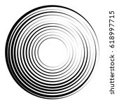 concentric circles geometric... | Shutterstock .eps vector #618997715