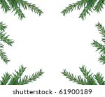 christmas green framework... | Shutterstock . vector #61900189