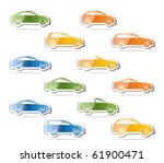 different types of cars icons   ... | Shutterstock .eps vector #61900471