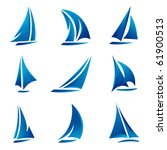 sailboat symbol set | Shutterstock .eps vector #61900513