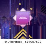retro poster style with modern... | Shutterstock .eps vector #619007672