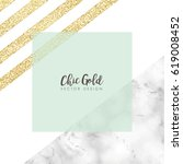 chic gold marble vector design | Shutterstock .eps vector #619008452